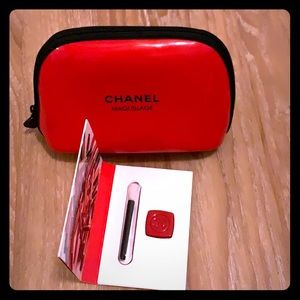 NIB Chanel makeup bag set with lip gloss